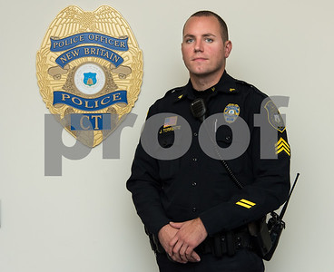 11/20/17  Wesley Bunnell | Staff  New Britain Police Sgt. Joe Torrente who apprehended a purse snatch suspect on Broad St.