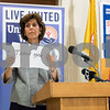 11/21/17  Wesley Bunnell   Staff<br /> <br /> A conference was held Tuesday morning at New Britain City Hall between the city and The United Way announcing a program where city employees can elect to have a portion of their paycheck automatically donated to The United Way.  President and CEO of The United Way of Central and Northeastern CT Paula Gilberto who was unable to speak due to illness held up messages for the audience expressing her feelings.