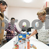 11/21/17  Wesley Bunnell | Staff<br /> <br /> The New Britain Salvation Army has seen a 100 percent increase in families looking for assistance from the food pantry since August in part due to the hurricanes. Food pantry volunteers Harry Cabaralo, L, Wilson Correa and Mirta Soto organize food items on a table to be distributed.