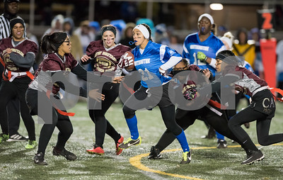 11/22/17  Wesley Bunnell   Staff  Southington defeated New Britain in the annual Powder Puff game at Veterans Stadium in New Britain on Wednesday night.  Taylor Riddick (21).