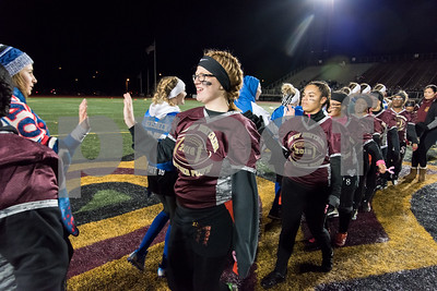 11/22/17  Wesley Bunnell   Staff  Southington defeated New Britain in the annual Powder Puff game at Veterans Stadium in New Britain on Wednesday night. Maggie Polkowski (11).
