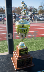 11/23/17  Wesley Bunnell   Staff  Plainville football was defeated by Farmington on Thanksgiving morning for The Olde Canal Cup.