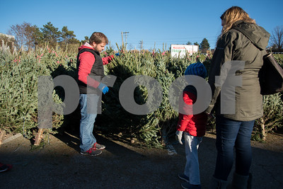 11/24/17  Wesley Bunnell | Staff  Wayne and Stefani Bjorne pick out a Christmas Tree at Stew Leonard's in Newington on Friday afternoon along with children Isabella and Brennan.