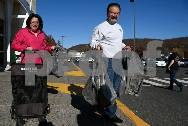11/24/2017 Mike Orazzi | Staff Rose Marie and Steve Audi while leaving the Kohls in Plainville after doing some Black Friday shopping Friday afternoon.