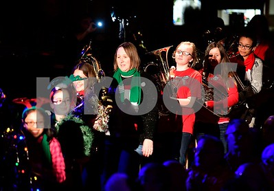 12/17/2016 Mike Orazzi | Staff Performers march in during the 2nd Annual Tuba Christmas at Trinity-On-Main in downtown New Britain Saturday.