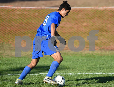 11/8/17  Wesley Bunnell | Staff  Southington boys soccer was defeated in the CIAC tournament on Wednesday afternoon in a match against Glastonbury at Glastonbury High School. Alexis Frausto (9).