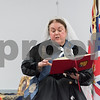 11/8/17  Wesley Bunnell | Staff<br /> <br /> Set in 1879 Sally Mummey performed as Queen Victoria, Queen of Great Britain and Empress of India at the Berlin-Peck Library on Thursday afternoon.  Queen Victoria reads from one of her diaries which totaled 122 volumes upon her death equaling 2,500 words a day.