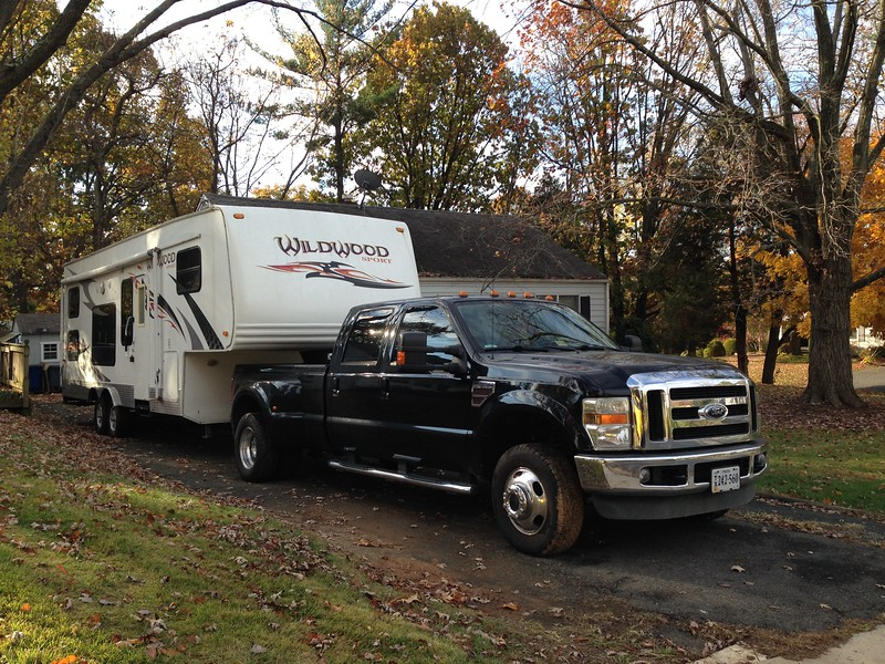 Day 1<br /> Fri 11/10<br /> <br /> Pulling out of the driveway, Lisa mentioned that if we move up to MD next year, our RV will never see that house again.