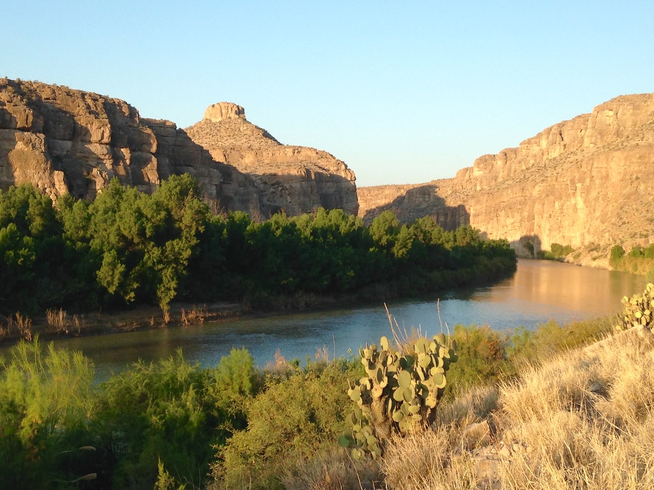 Two views of the Rio Grande, from near our RV campsite.