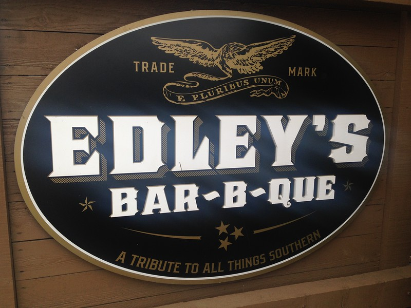 Lunch at Edley's, a family-owned BBQ place.