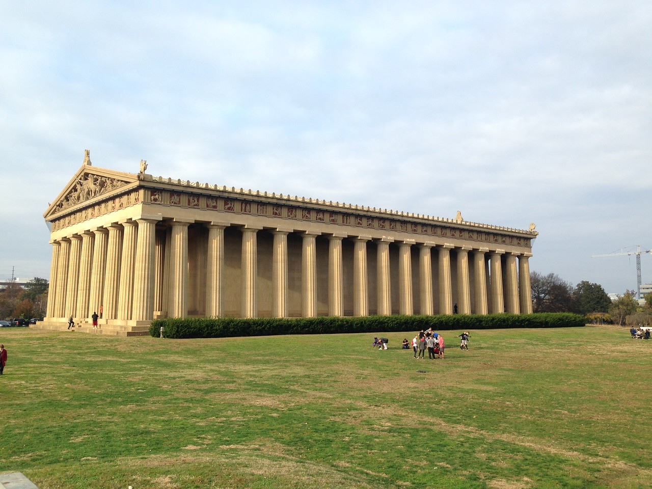 Then we went to the Parthenon! Dating from 1897, that is. Much improved over the original because, as you can see, OURS has not fallen apart.