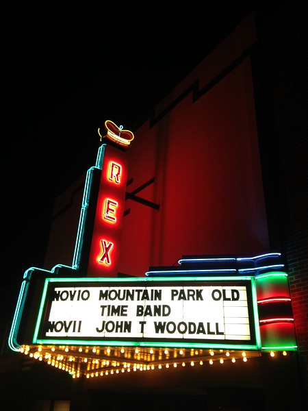 Every Friday, the Rex Theater does a live radio broadcast of mountain music.