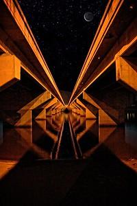 'Starry Night, Under Nathan Street Bridge, Townsville.'