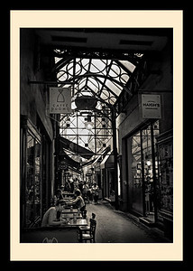 """Block Arcade, Melbourne."" Standard museum frame with darker matt."