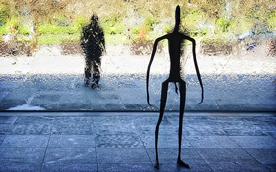 Antony Gormley's 'Inside Australia' sculptures at the NGV.