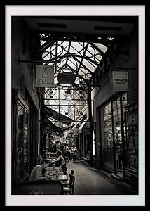 """""""Block Arcade, Melbourne."""" Standard museum frame and  matt."""