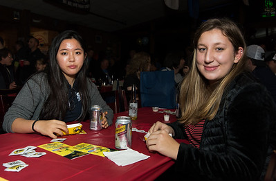 11/05/18  Wesley Bunnell | Staff  The Southington Chamber of Commerce held their 13th annual Wing Fest on Monday evening at The Cadillac Ranch in Southington.  Martima Joung, L, and Sadie Garfinkel take a break from sampling their wings.