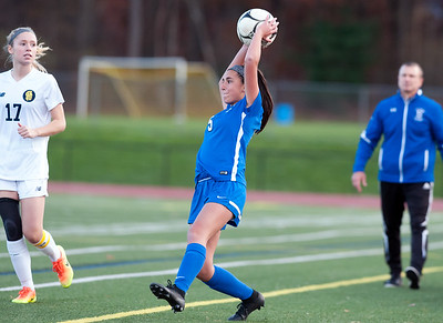 11/07/18  Wesley Bunnell | Staff  Southington girl soccer was defeated in PK by Simsbury in a second round Class LL CIAC Tournament game on Wednesday night. Marisa Imme (5).