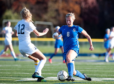 11/07/18  Wesley Bunnell | Staff  Southington girl soccer was defeated in PK by Simsbury in a second round Class LL CIAC Tournament game on Wednesday night. Allison Carr (8).