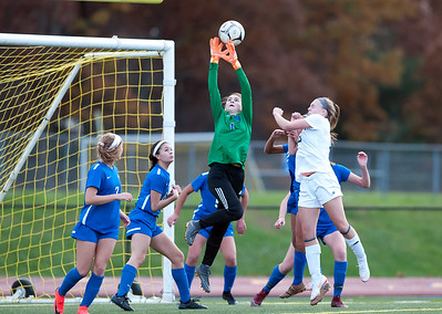 11/07/18  Wesley Bunnell | Staff  Southington girl soccer was defeated in PK by Simsbury in a second round Class LL CIAC Tournament game on Wednesday night. GK Olivia Sherwood (1).