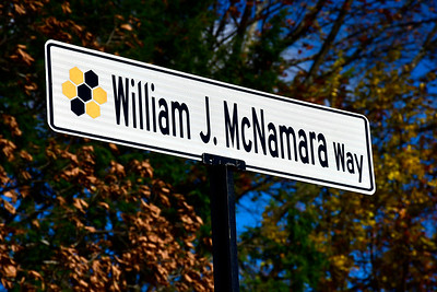 11/10/2018 Mike Orazzi | Staff A dedication ceremony on Saturday to mark the naming of the entrance of Pulaski Middle School in honor of former Mayor William J. McNamara Saturday morning.