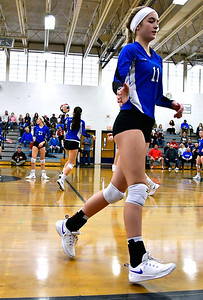 11/10/2018 Mike Orazzi | Staff Bristol Eastern's Ryley Plourde (11) during the Class L Quarterfinal Girls Volleyball Tournament in Bristol Saturday.