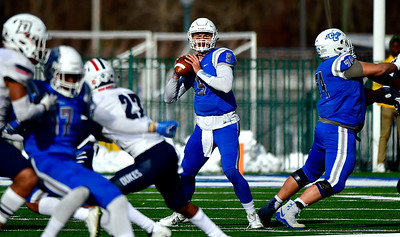 11/17/2018 Mike Orazzi | Staff CCSU's Jacob Dolegala (9) at Arute Field in New Britain Saturday afternoon.