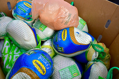 11/17/2018 Mike Orazzi | Staff Turkeys collected during a FoodShare turkey drive at the Costco in NEw Britain Saturday morning.