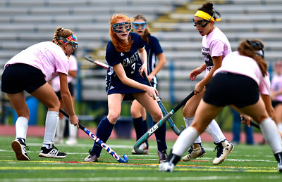 11/2/2018 Mike Orazzi | Staff Wethersfield's Lorien Touponse (3) during field hockey at Southington High School Friday.