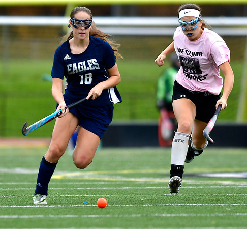 11/2/2018 Mike Orazzi   Staff Wethersfield's Audrey Mainville (16) during field hockey at Southington High School Friday.