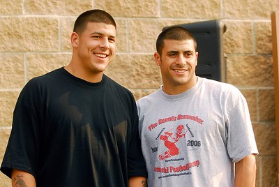 6 27 2007 Mike Orazzi  Brothers Aaron and D.J. Hernandez at the Dennis Hernandez Memorial Football on Wednesday at Casey Field. The camp was named in honor of their dad.