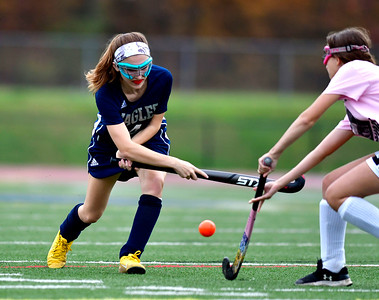 11/2/2018 Mike Orazzi | Staff Wethersfield's Summer Mitchell (4) during field hockey at Southington High School Friday.