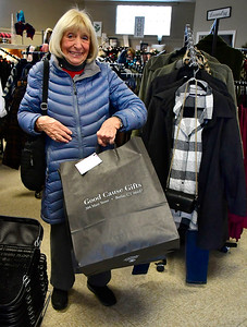 11/24/2018 Mike Orazzi | Staff Evelyn Anderson of Berlin while shopping at Good Cause Gifts in Berlin on Saturday.