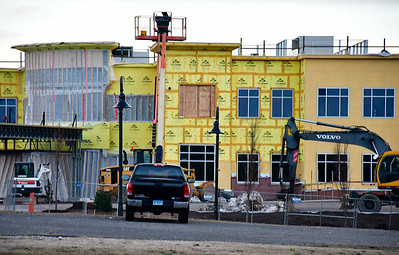 11/28/2018 MIke Orazzi | Staff Bristol Hospital's new Ambulatory Care Center being built on the corner of Riverside Avenue and Main Street.