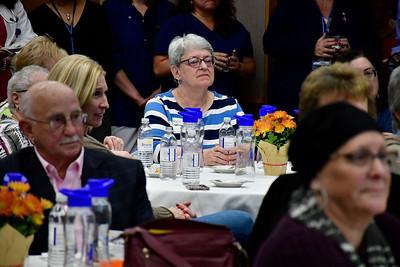 11/8/2018 Mike Orazzi | Staff Sandra Belanger during a cancer survivors program held at Bristol Hospital Thursday evening. Belanger is a 4 1/2 year survivor of cancer.
