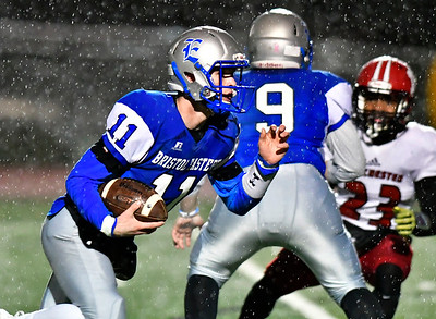 11/9/2018 Mike Orazzi | Staff Bristol Eastern's Justin Marshall (11) during Friday night football with Manchester in Bristol.