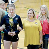 KEVIN HARVISON | Staff photo<br /> McAlester High School Volleyball senior Starla Pickering was honored during Thursday night game at Bob Brumley.