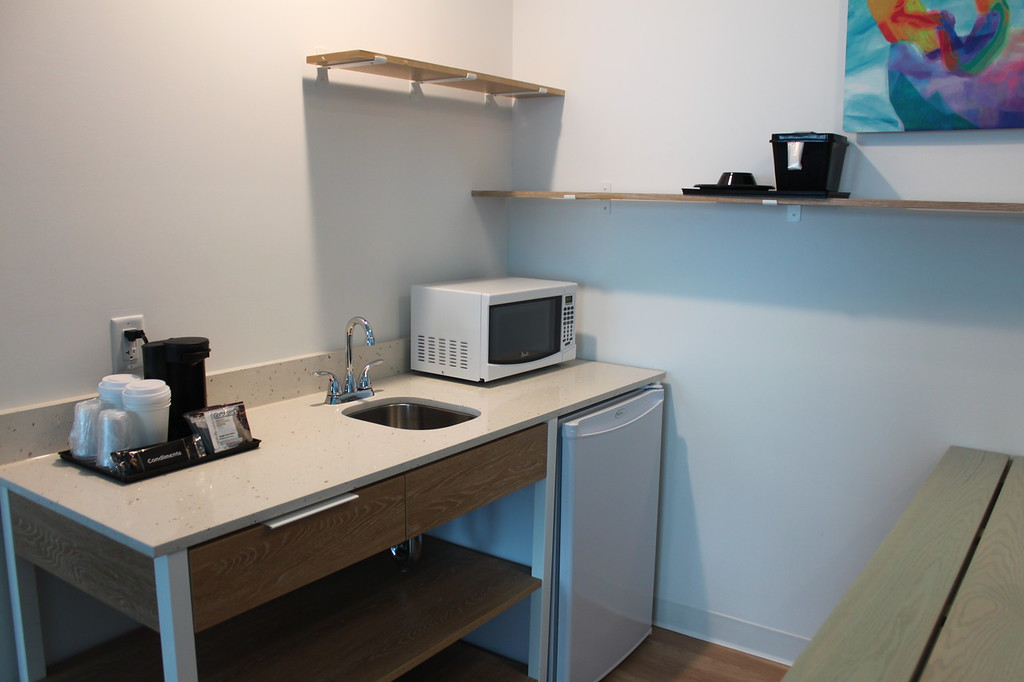 Surfside Inn and Suite kitchenette with microwave and mini fridge