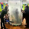 KEVIN HARVISON | Staff photo<br /> A behind the scenes look as Emerson Elementary employees work the school money booth.