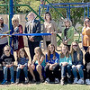 KEVIN HARVISON | Staff photo<br /> TSET people along McAlester Public Schools officials, employees and students were on hand for the Ribbon Cutting of the new playground equipment at Parker Intermediate School Monday. TSET money was coupled with a Kaboom grant to fund the playground.
