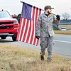 KEVIN HARVISON | Staff photo<br /> Daine Powell, of Quinton, makes his way toward McAlester.