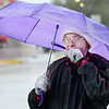 KEVIN HARVISON | Staff photo<br /> Clark DeGruy makes his way down Wyandotte Avenue Wednesday.