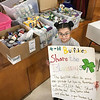 KEVIN HARVISON | Staff photo<br /> Mia Sanchez Fourth Grade student at Edmond Doyle heard how Sharred Blessing helps the needy and wanted to help. She started a food drive at Edmond Doyle with items being given to Shared Blessings.