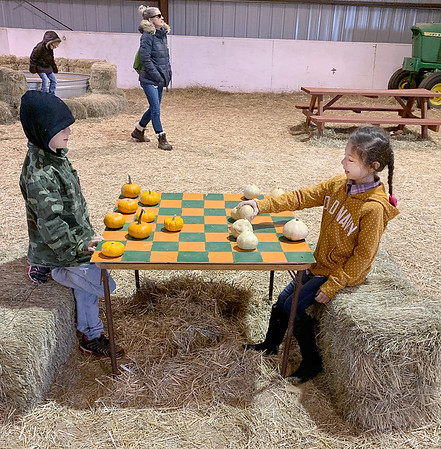 SUBMITTED Photo | <br /> Emerson Elementary First Grade students enjoy some fun during a field trip to the Cornerstone Kid's Ranch Pumpkin Patch in Ada.