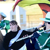 KEVIN HARVISON | Staff photo<br /> Quinton High School Marching Band performs at Hook Eales Stadium Wednesday during OSSSA Small School band competition.