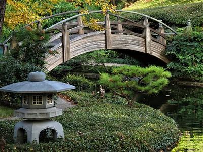 moon bridge, Fort Worth Japanese Garden
