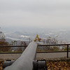 View of the Tennessee River and Chattanooga from a canons placement.