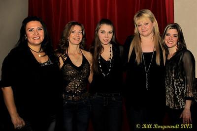 Dahlia Wakefield, Danita, Karen Claypool, Shawna Lynne, Shila Marie - Dirth Road Angels - Elevation Entertainment CFR wrap up party at The Brix
