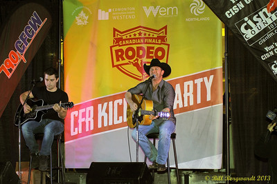 Aaron & Jordan Pritchett at West Edmonton Mall Rodeo Kick-off