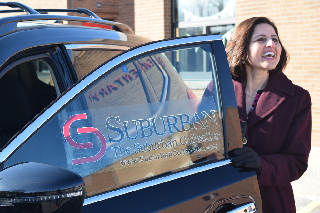 . Lisa Rice, a first grade teacher at Village Oaks Elementary in Novi, was named the school district\'s 2018 Teacher of the Year on Monday, March 26, 2018. As part of the honor,  The Suburban Collection will provide her with a leased vehicle of her choice for a two or three years. (Mark Cavitt/The Oakland Press)
